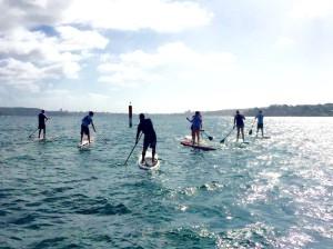 training paddle board