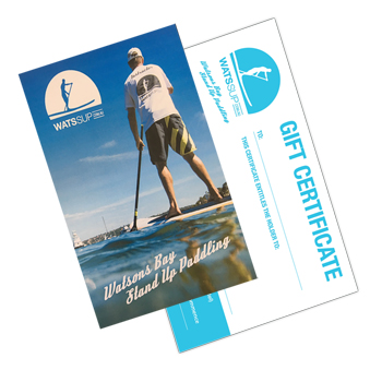gift voucher stand up paddling