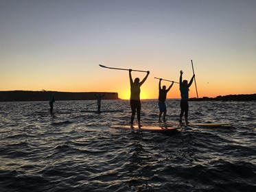 sunset paddle at sydney harbour